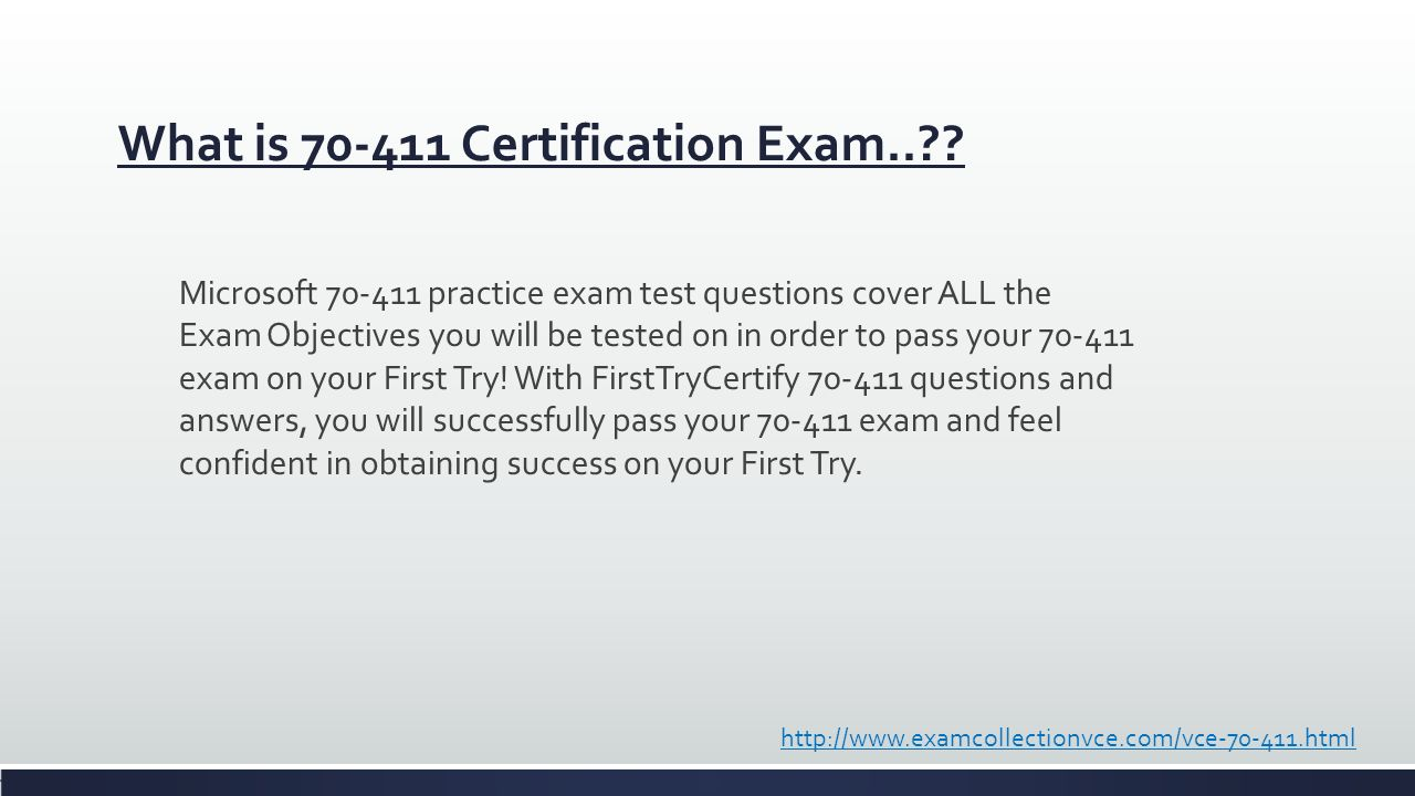What is Certification Exam.. . 3  Vendor Microsoft  Certifications MCSA Windows  Server 2012  Exam Name Administering ...