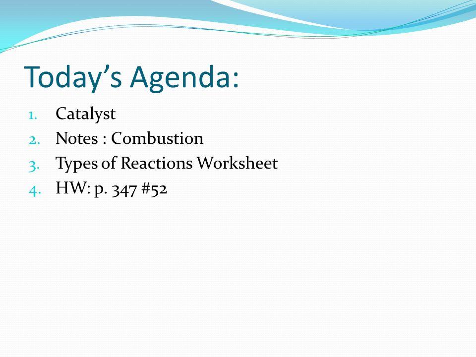Chem Catalyst What happens during a: - decomposition reaction ...