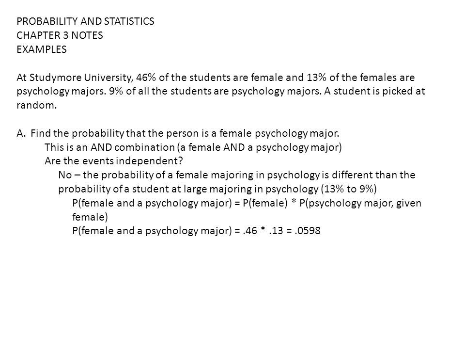 Sections 3-3 and 3-4 Probability  PROBABILITY AND STATISTICS CHAPTER