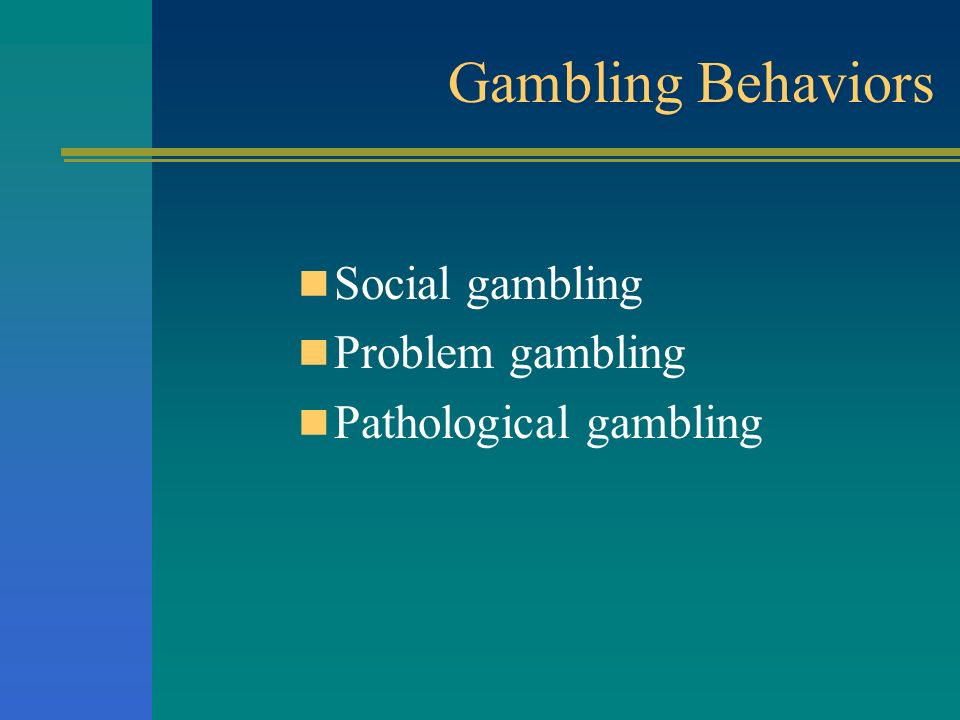Freedom from problem gambling food gambling