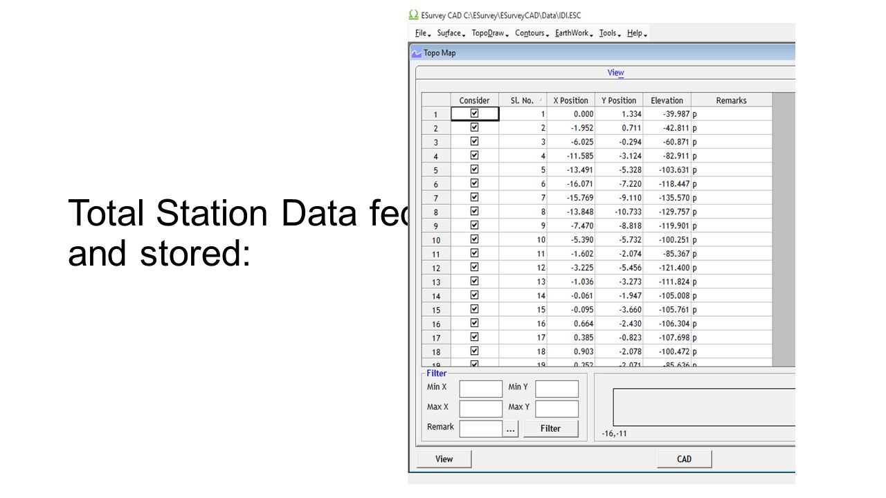 Analysis of total station data of IDL By- ABINASH SWAIN, NIT