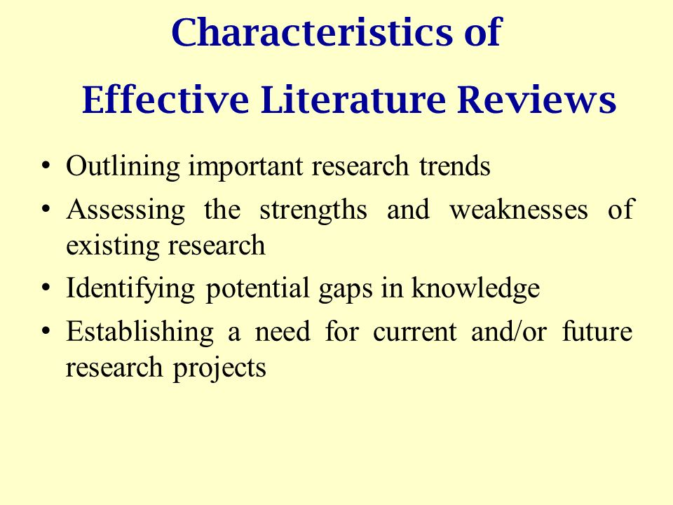 why a literature review is important in a research
