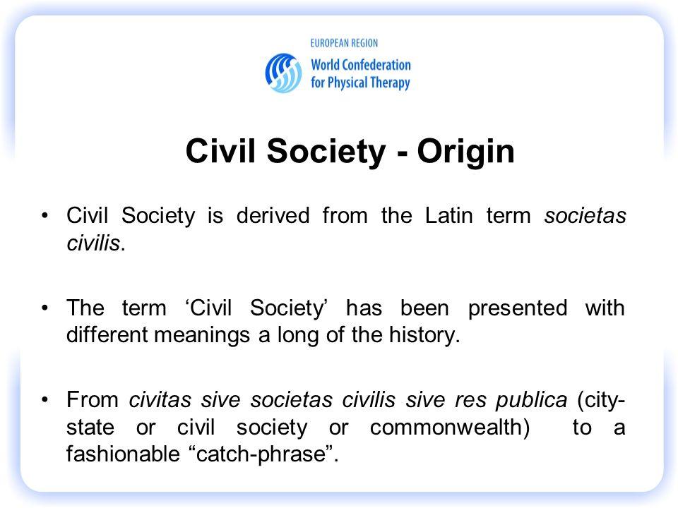 the origin of civil society
