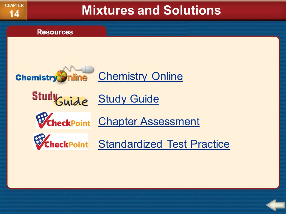 Chapter 14 Mixtures And Solutions CHEMISTRY Matter And