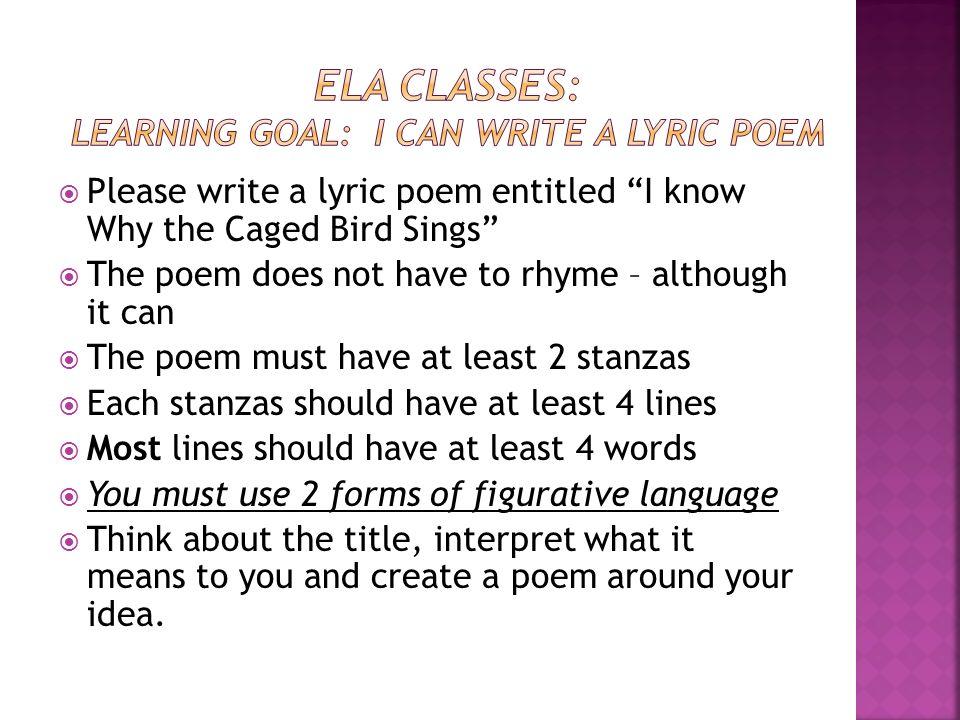 lyric stanzas