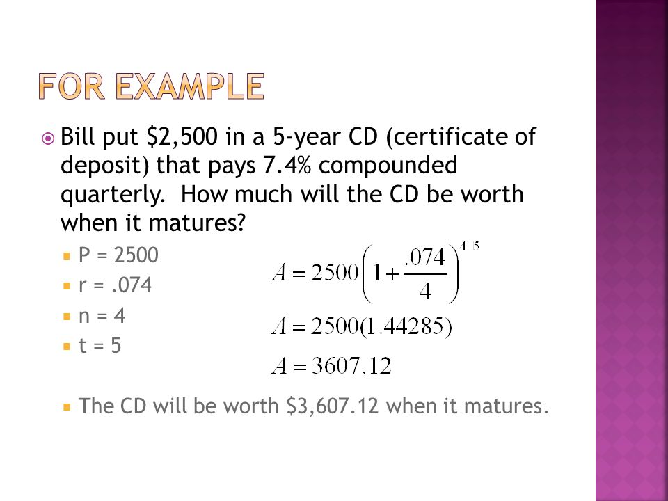Leq How Do You Calculate Compound Interest Suppose You Deposit