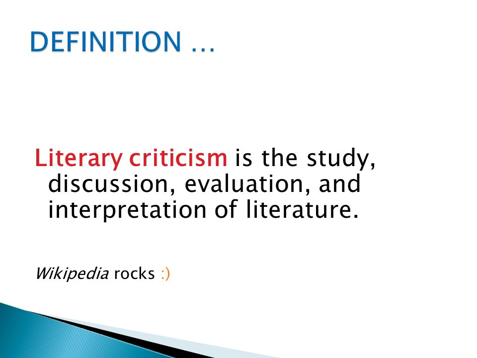 what does literary criticism mean