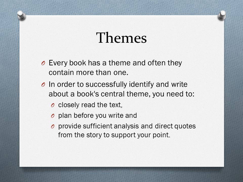 How To Write An Essay On The Theme Of A Book Themes O Every Book  Themes O Every Book Has A Theme And Often They Contain More Than One Buy Persuasive Speech Online also Essay On Religion And Science  Yellow Wallpaper Essays