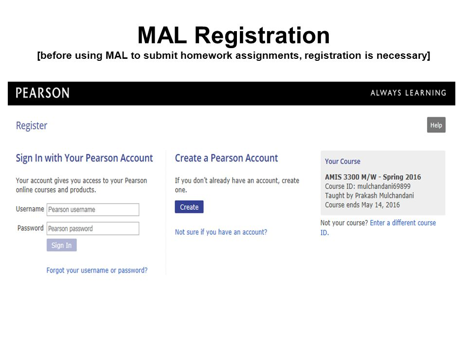 Overview of MyAccountingLab [MAL] as a Homework Management
