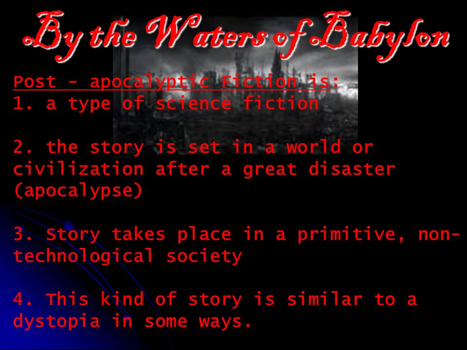 by the waters of babylon pdf