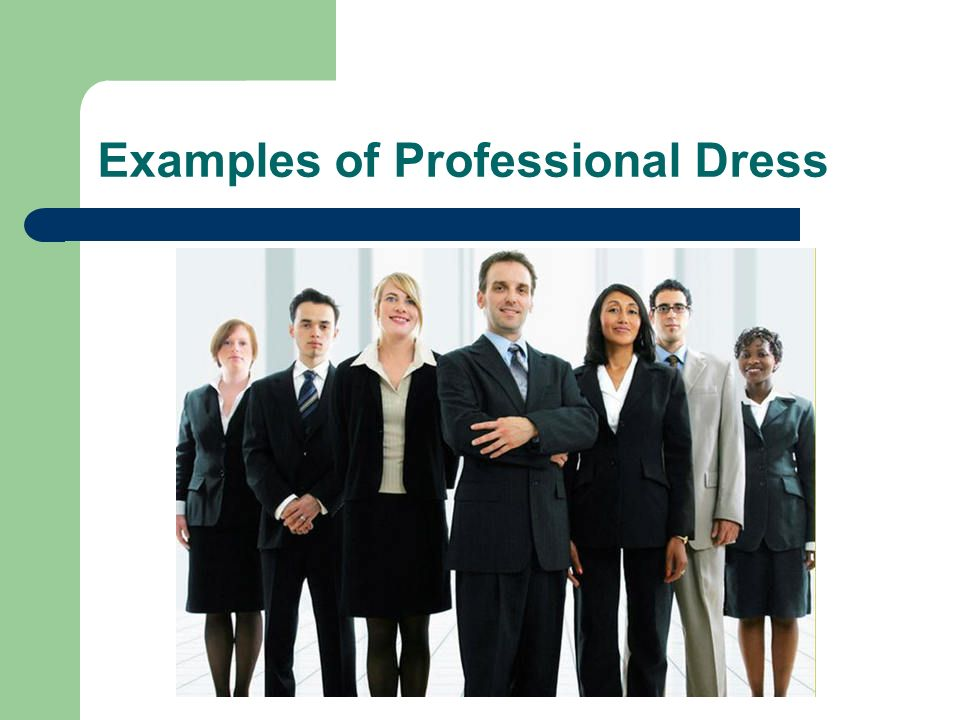 5 Examples Of Professional Dress