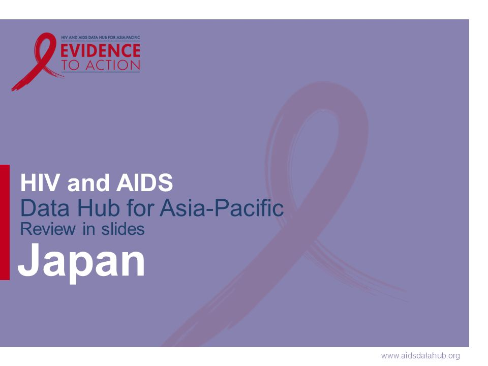 www.aidsdatahub.org HIV and AIDS Data Hub for Asia-Pacific Review in slides Japan