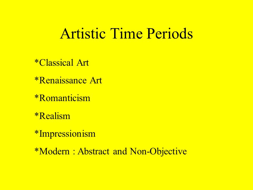 art time periods
