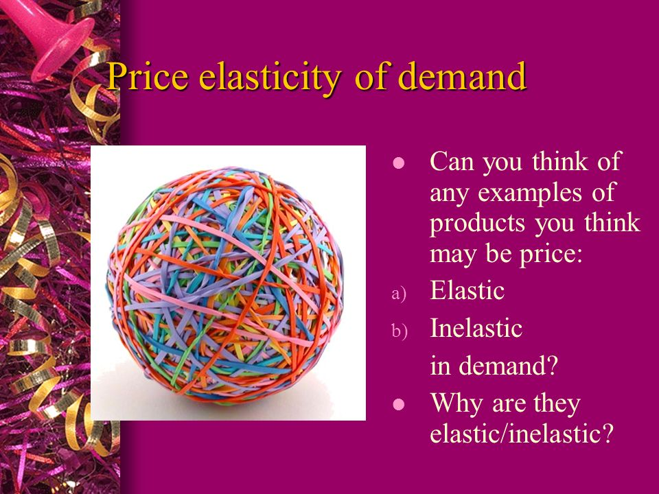 Price Elasticity Of Demand Ped 2 Lesson Aims To Give Examples