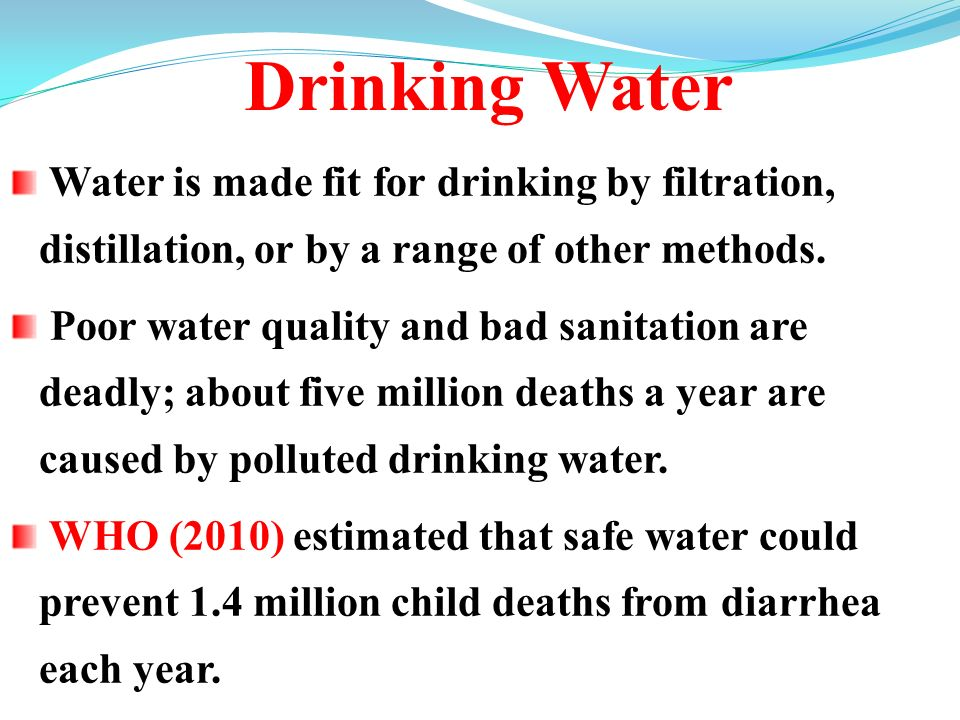 importance of safe water