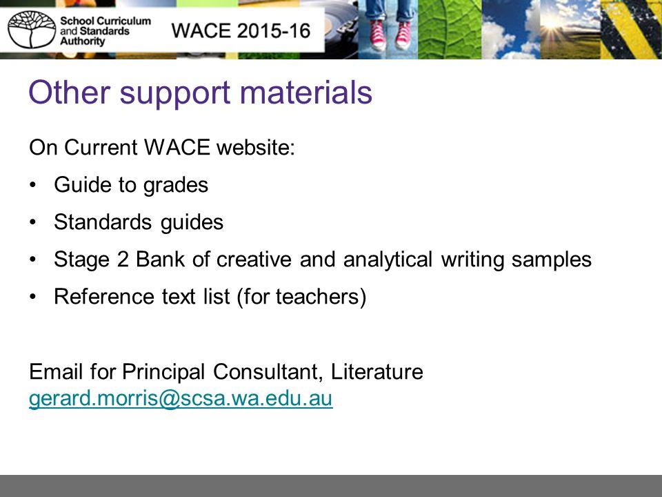 literature atar and general 2015 16 1 webinar preparation in rh slideplayer com Wace Scholarship Co-op Wace AM