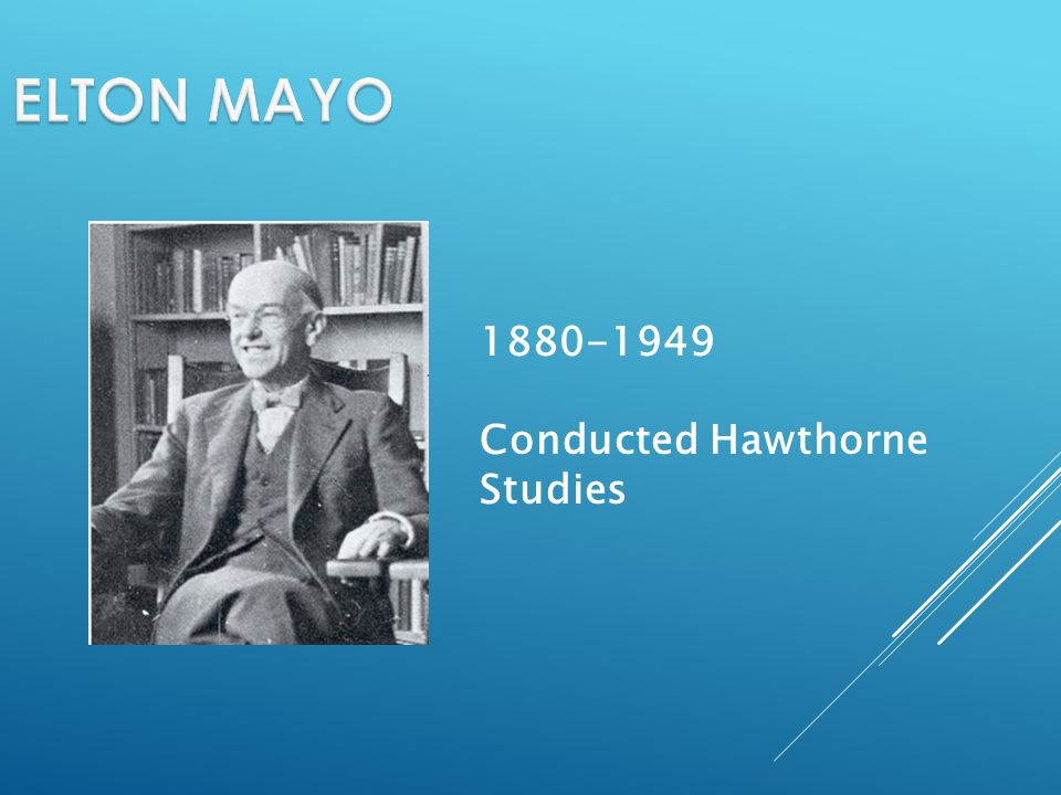 1880-1949 Conducted Hawthorne Studies