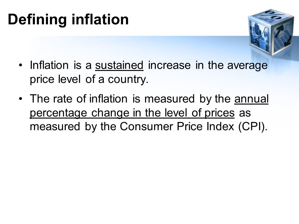 Inflation 8th October 2015 LO:  To be able to explain the