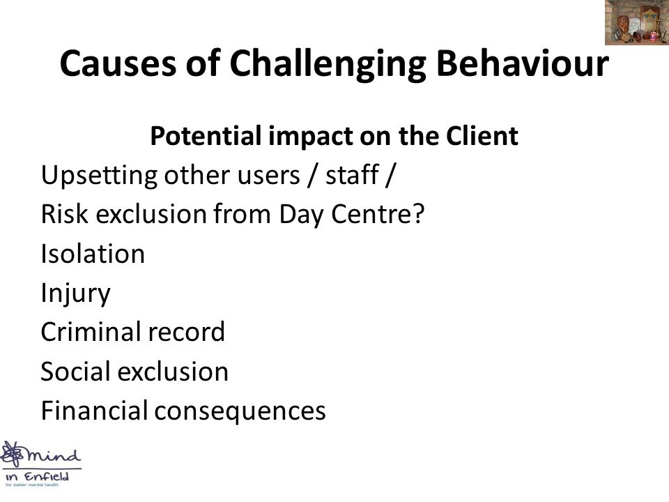 Challenging Behavior And Impact On >> Working With Challenging Behaviour Mind Body And Soul Project