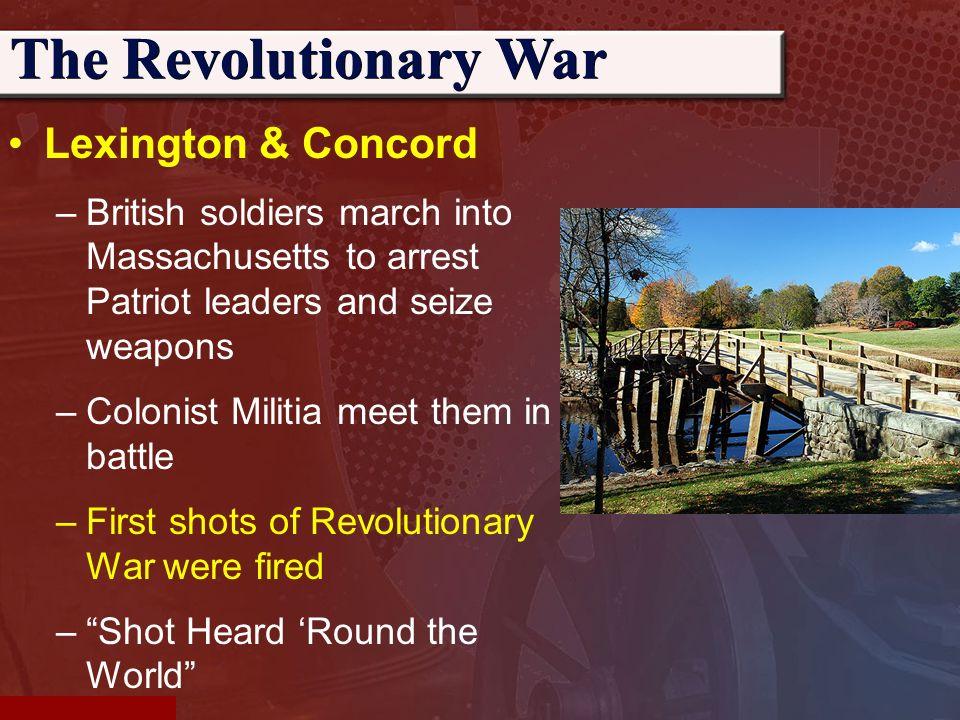 first shot in revolutionary war