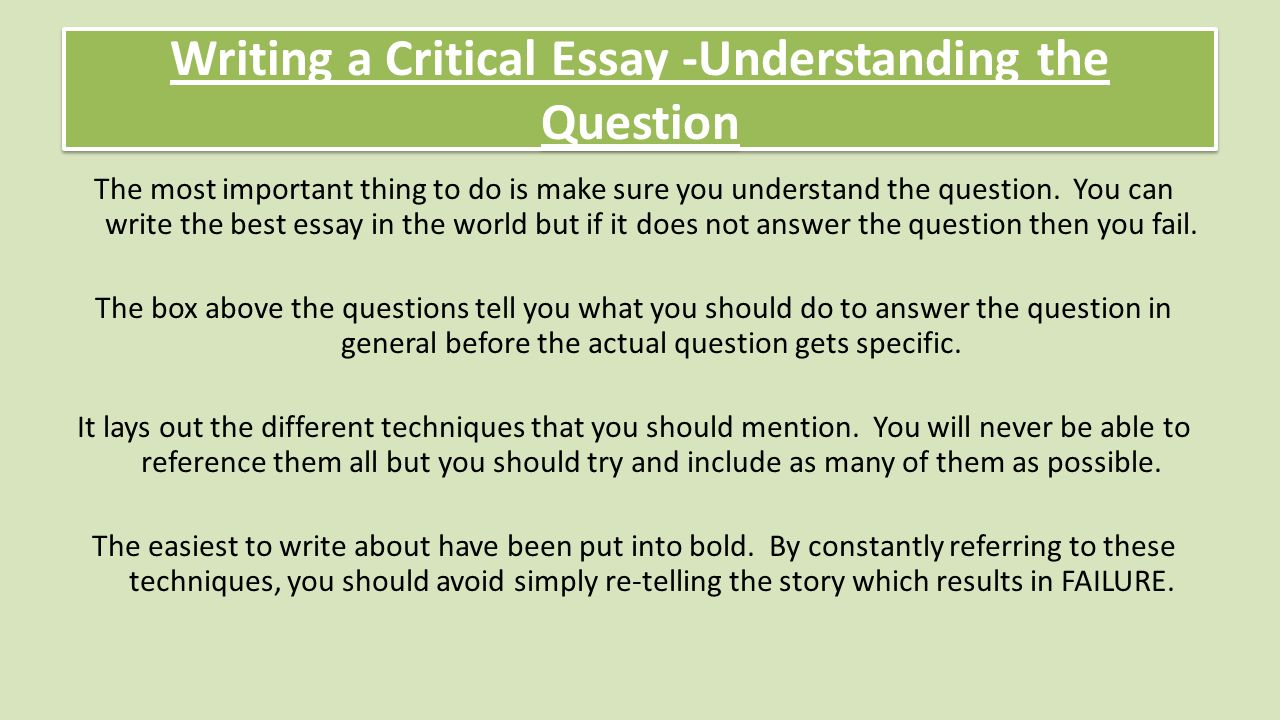 National  Critical Essay Revision Review Understanding The   Writing