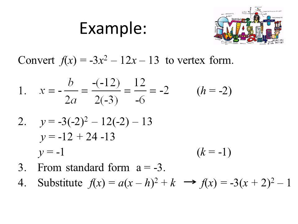 Algebra 2 Standard Form Of A Quadratic Function Lesson 4 2 Part Ppt