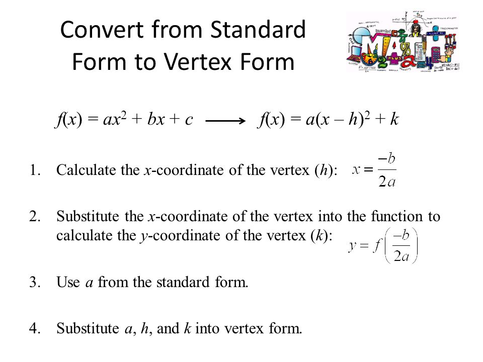 Algebra 2 Standard Form Of A Quadratic Function Lesson 4 2 Part Ppt