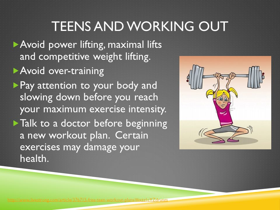 Teen work out plans