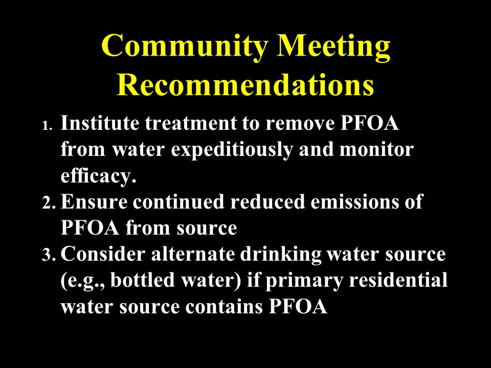 Successful Reduction of Community Exposure to Perfluorooctanoate