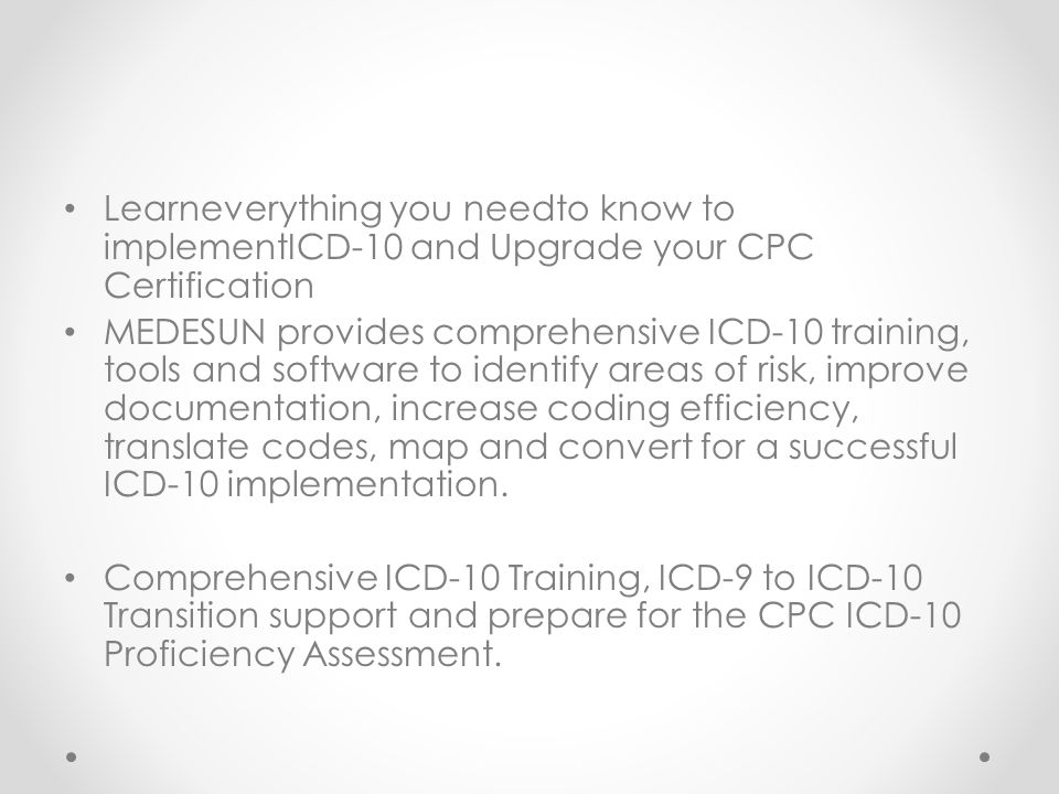 Comprehensive Icd 10 Training And Hl7 Training Medesun Healthcare