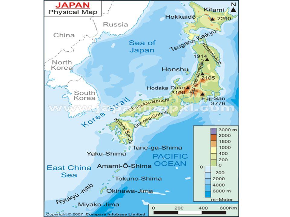 I Geography Of Japan A)Japan Is An Archipelago East Of Korea.