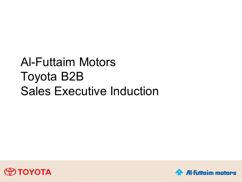1 Al-Futtaim Motors Toyota B2B Sales Executive Induction