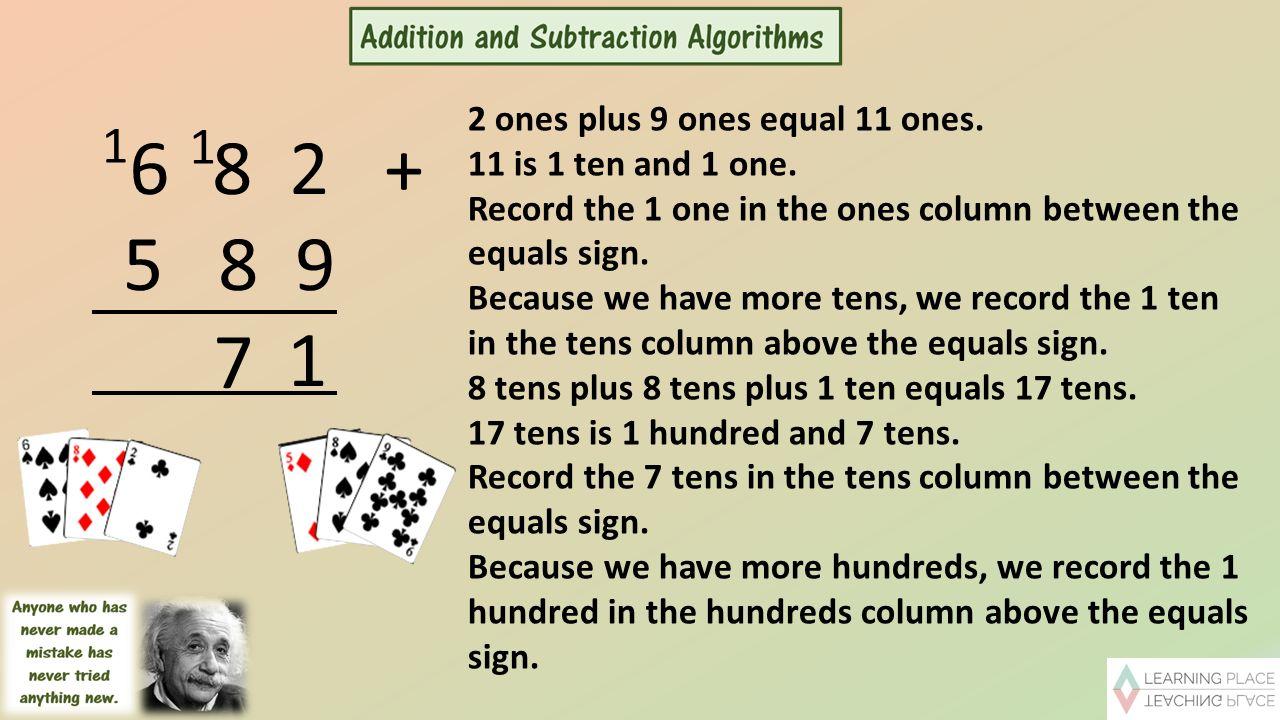 8 ones plus 8 ones equal 16 ones  16 is 1 ten and 6 ones