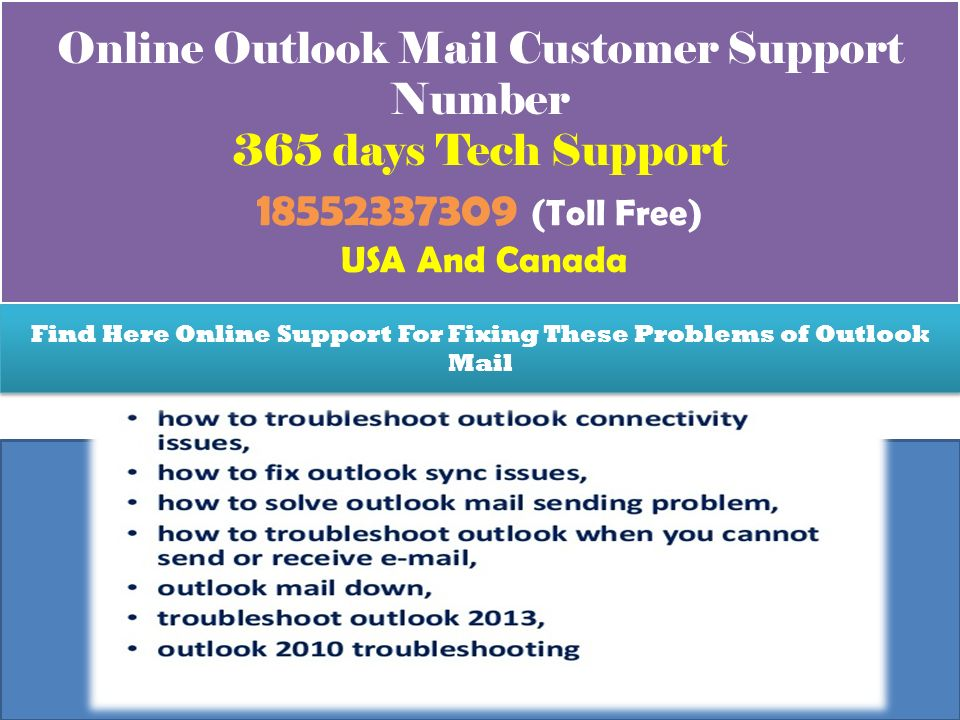 Live Outlook Mail Customer Service Number Toll Free Support USA and