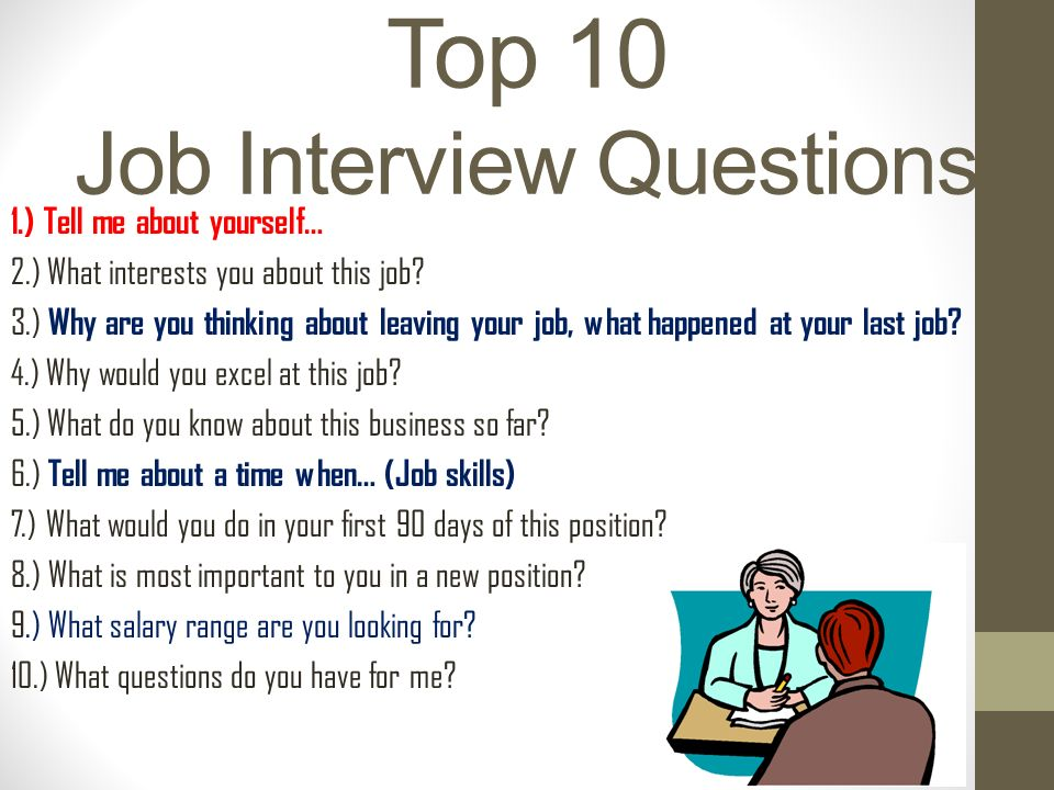job interview for restaurant