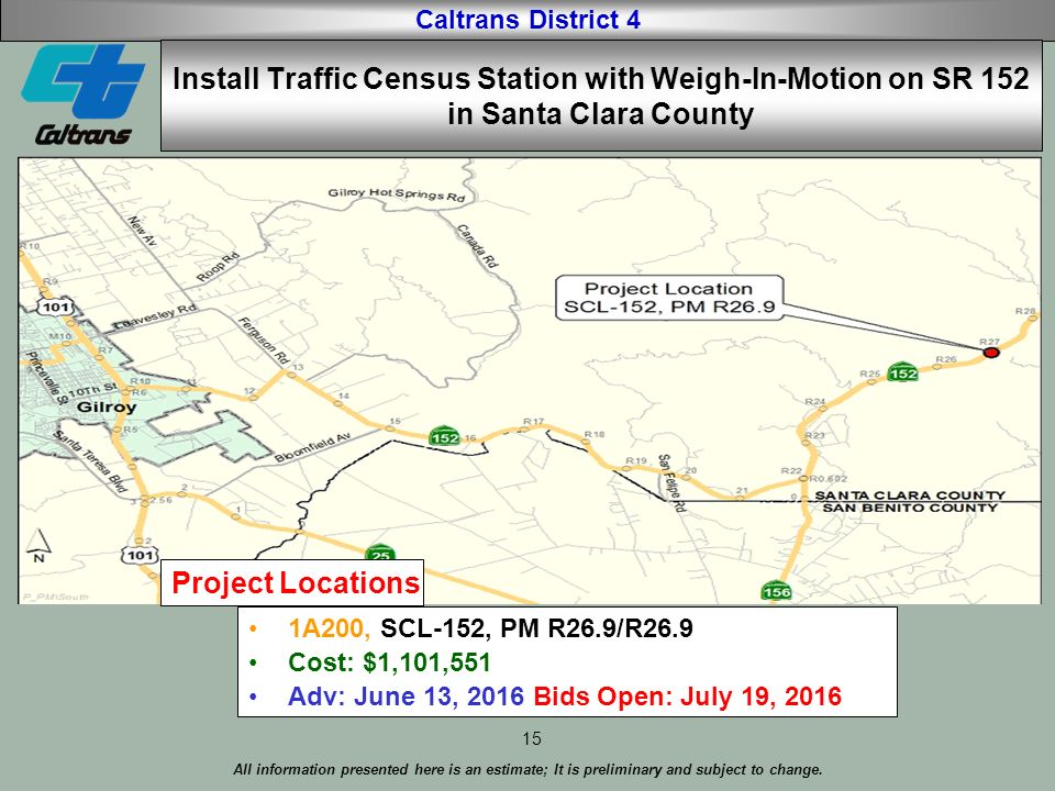Caltrans District 4 All information presented here is an