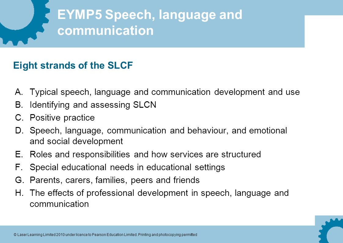 Eight Special Education Communication >> Eymp5 Speech Language And Communication C Laser Learning Limited