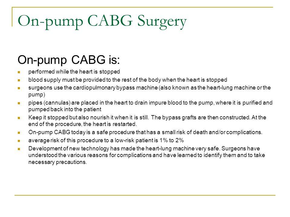 on and off pump coronary artery bypass grafting cabg david kim