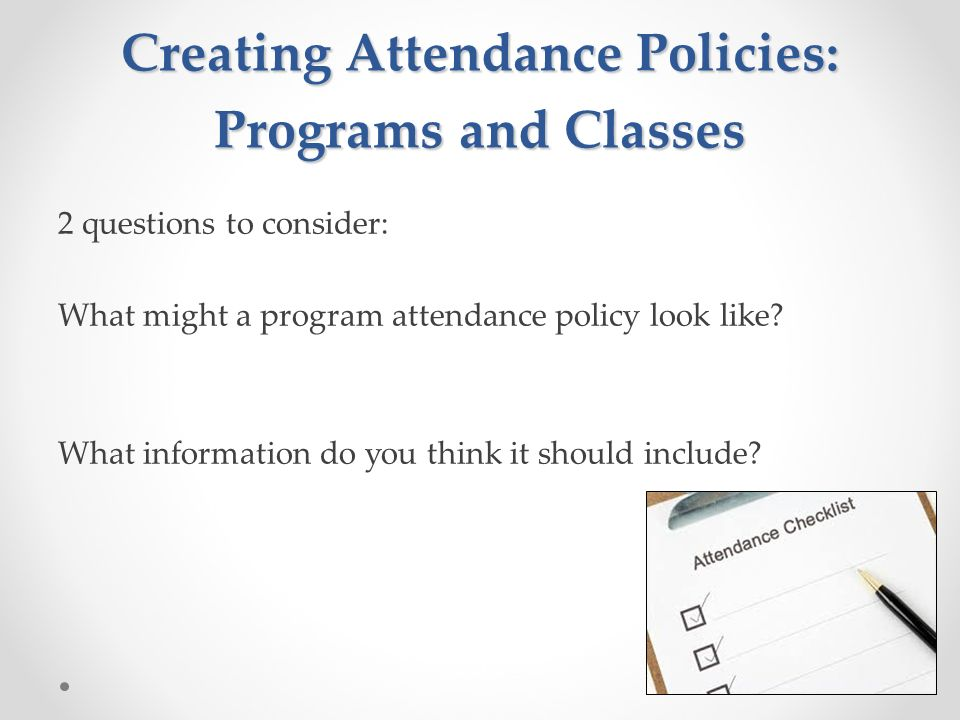 approaches to managing and improving your students attendance