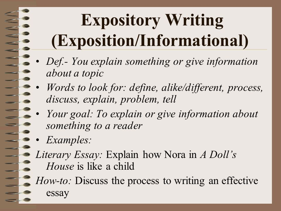 define exposition writing
