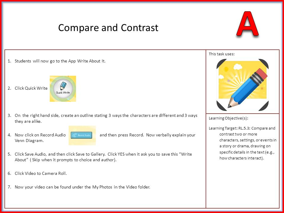 1ter Reading This Weeks Story You Will Compare And Contrast 2