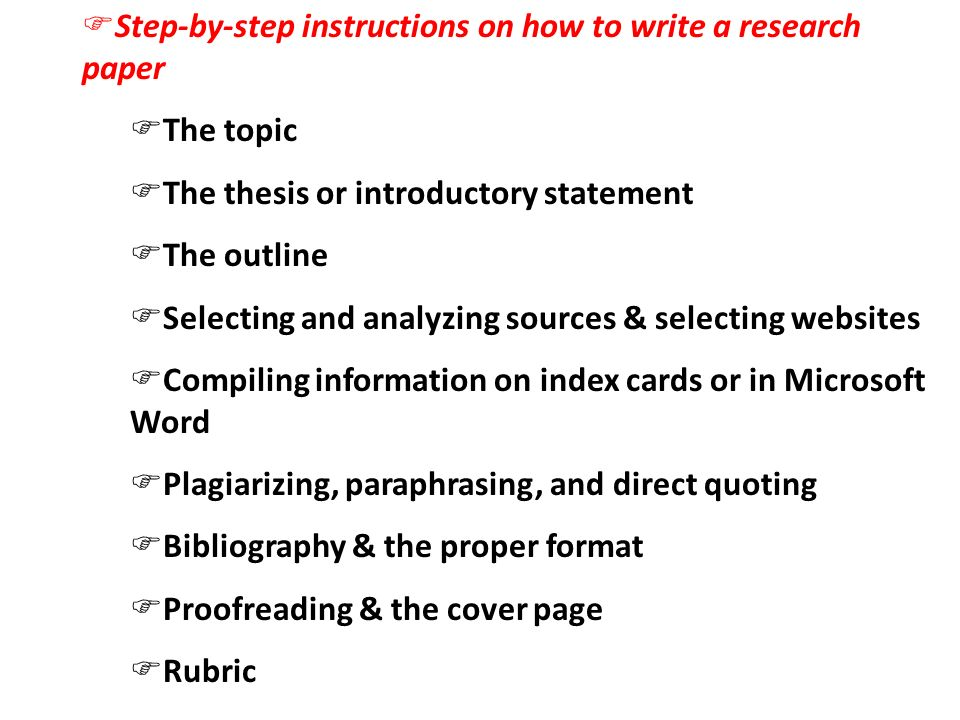 how to write a college research paper step by step