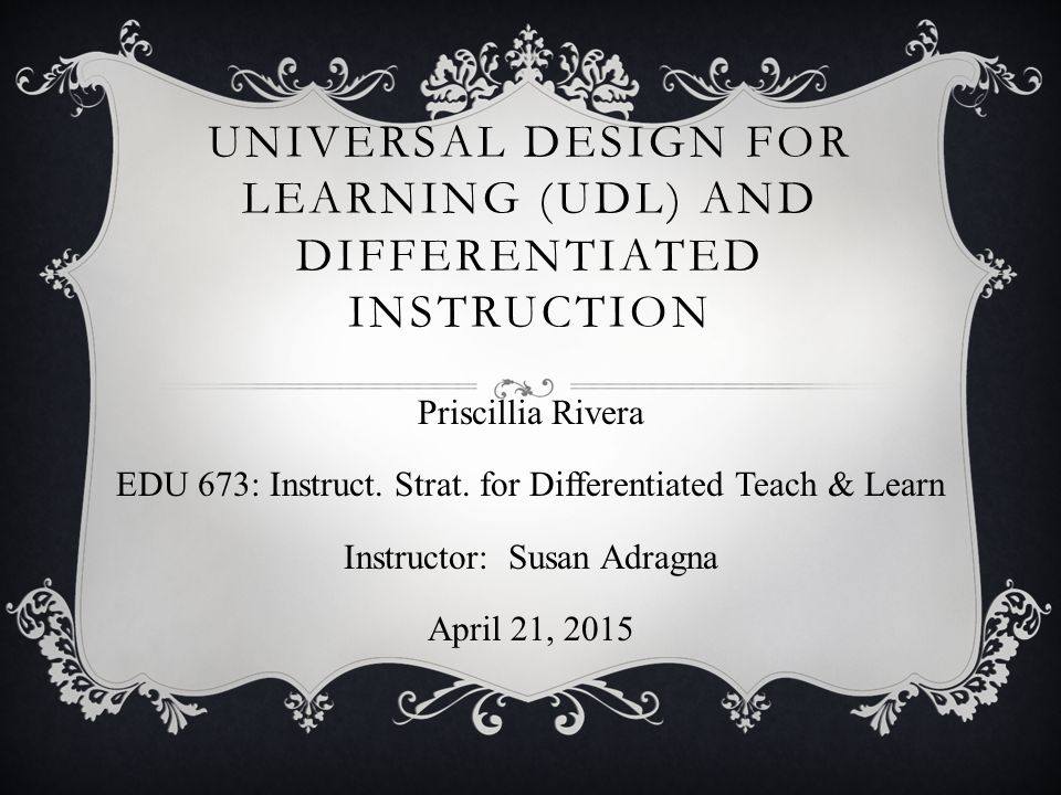 Universal Design For Learning Udl And Differentiated Instruction