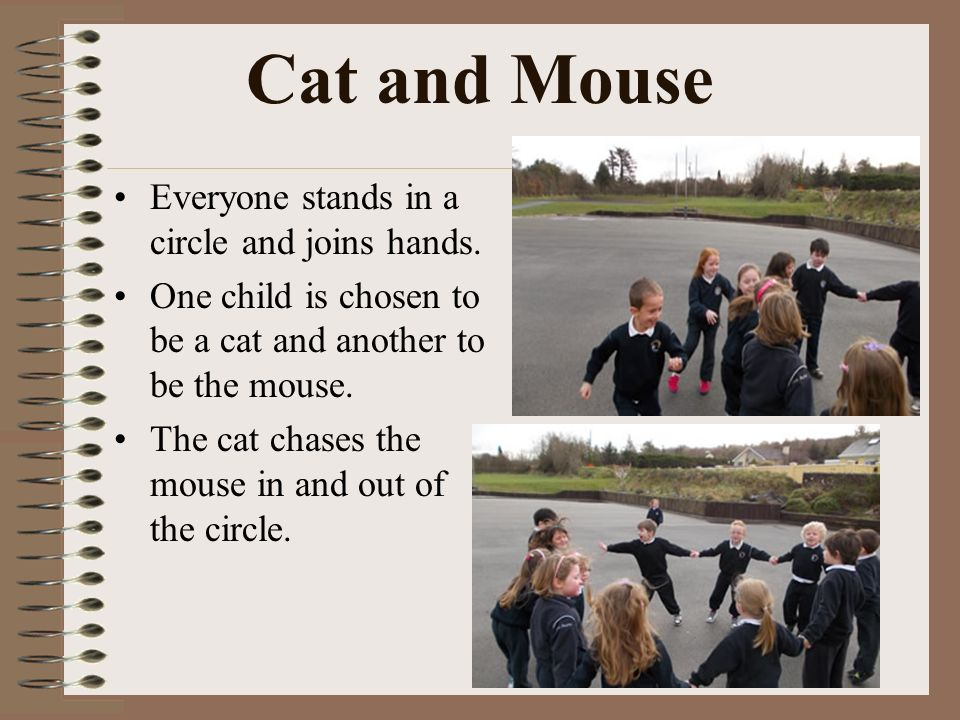 Caherleaheen National School Playground Games Cat And Mouse Everyone Stands In A Circle And Joins Hands One Child Is Chosen To Be A Cat And Another Ppt Download