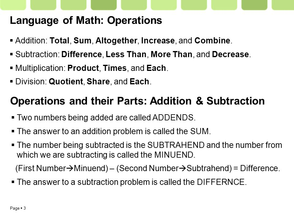 Equations And The Order Of Operations Page 2 Section 1