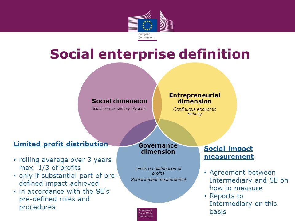 EU SUPPORT TO SOCIAL ENTREPRENEURSHIP Dana Verbal DG