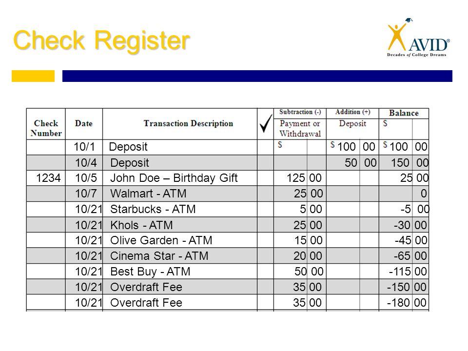 financial planning balancing a checkbook checking account
