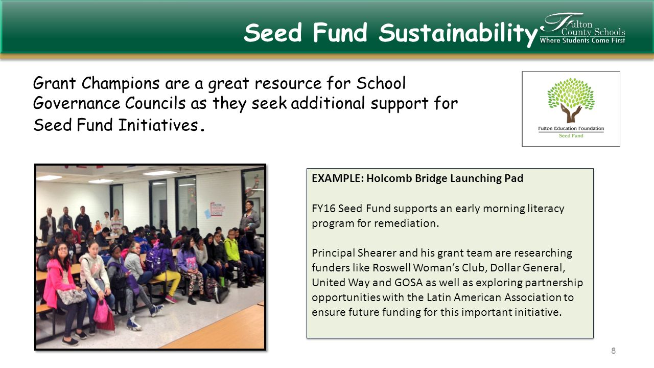 Seed Launching Pad >> 1 Today S Grant Workshop Presentation Can Be Found On The Fcs