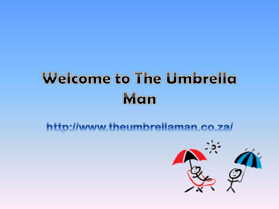 The Umbrella Man is a Cape Town based company that has distribution