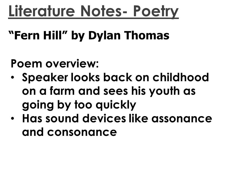 fern hill poem